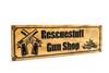 Ammo Shop Sign,Crossed pistols sign,Gun room sign,Man Cave Sign-Shop-Sign-Custom sign (CWD-572)