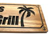palm tree wooden sign