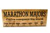 Marathon Medal display with 7 PEGS - Chicago - New York - Boston - London - Berlin - Tokyo