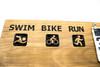swim bike run sign