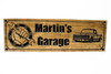 Garage Sign | Man Cave sign with wrench hand and a 1971 Chevy pickup truck