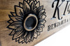 sunflower wooden sign