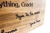 BASEBALL team  wooden sign
