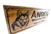 husky dog wooden sign