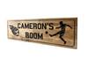 Soccer room sign Kids bedroom sports plaque