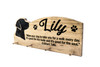 Dog Leash Holder, custom leash holder for wall, personalized collar holder, wooden dog leash hook