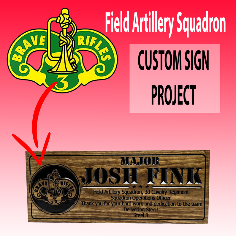 Field Artillery Squadron - Operations Officer custom wooden sign