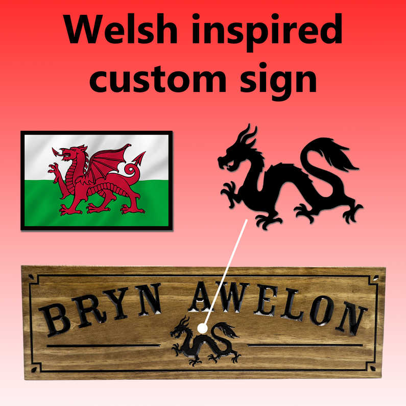 Welsh inspired custom sign