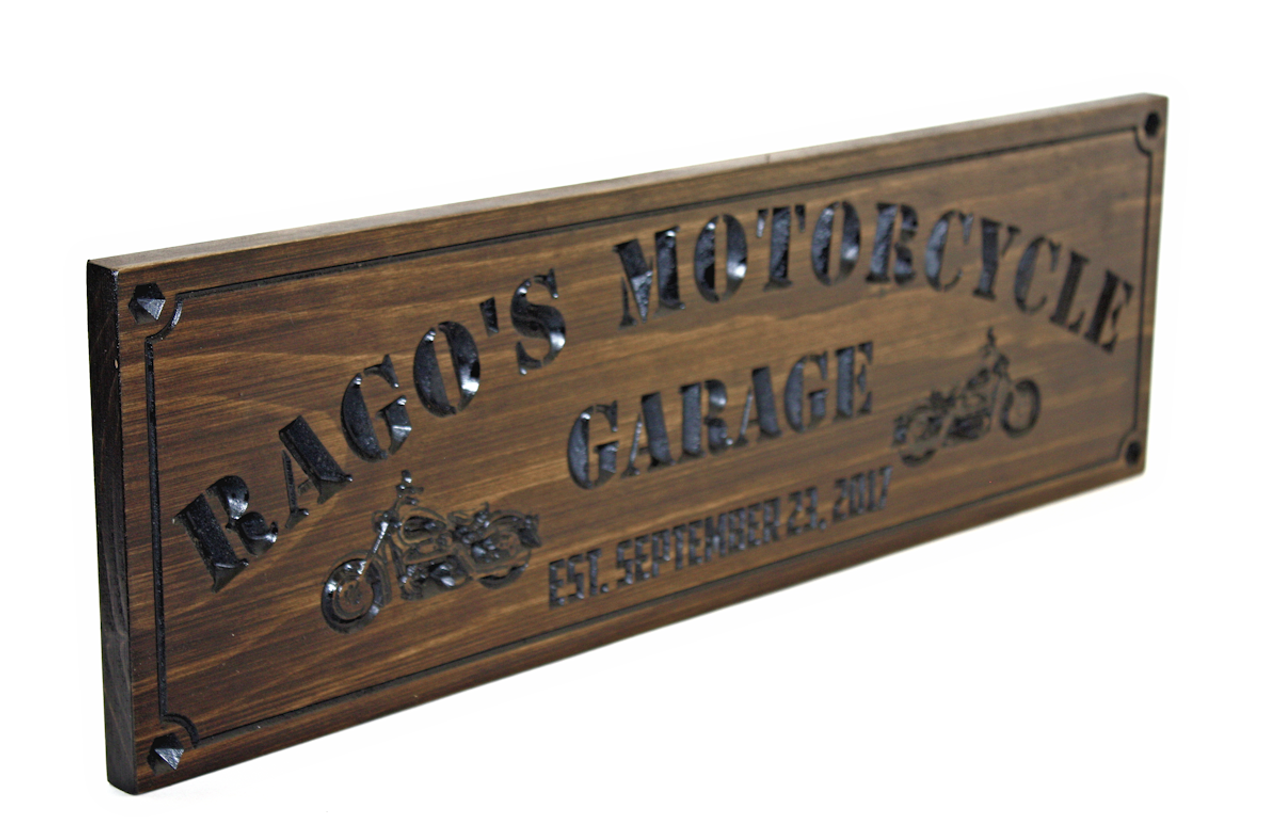 Motorcycle Garage Sign Man Cave Sign