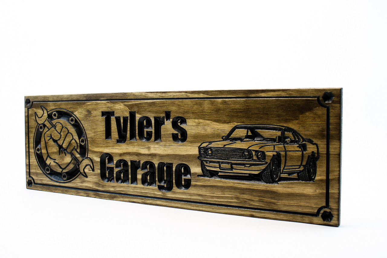 Garage sign man cave sign garage shop sign wirth 69 ford mustang