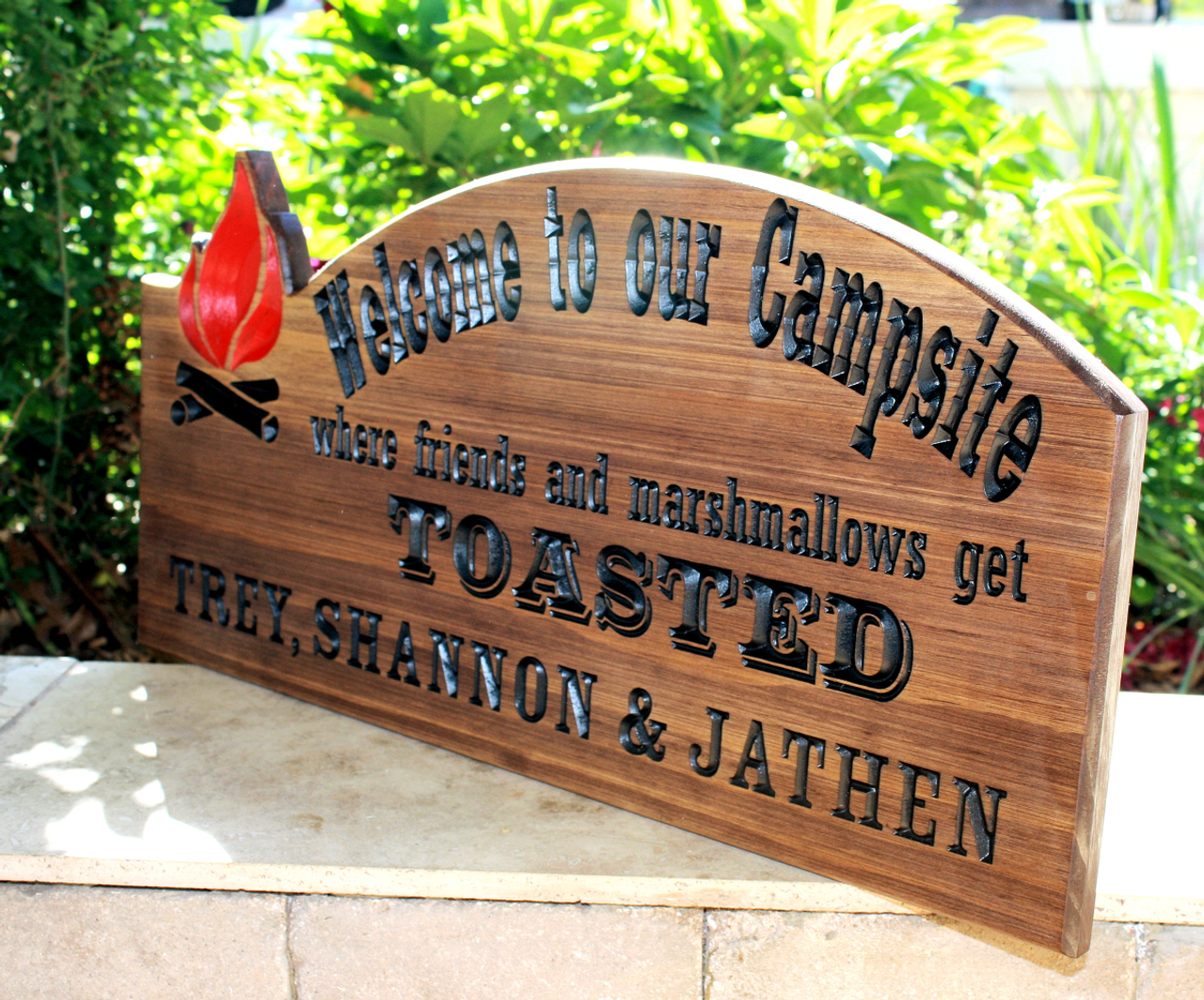 campsite custom sign