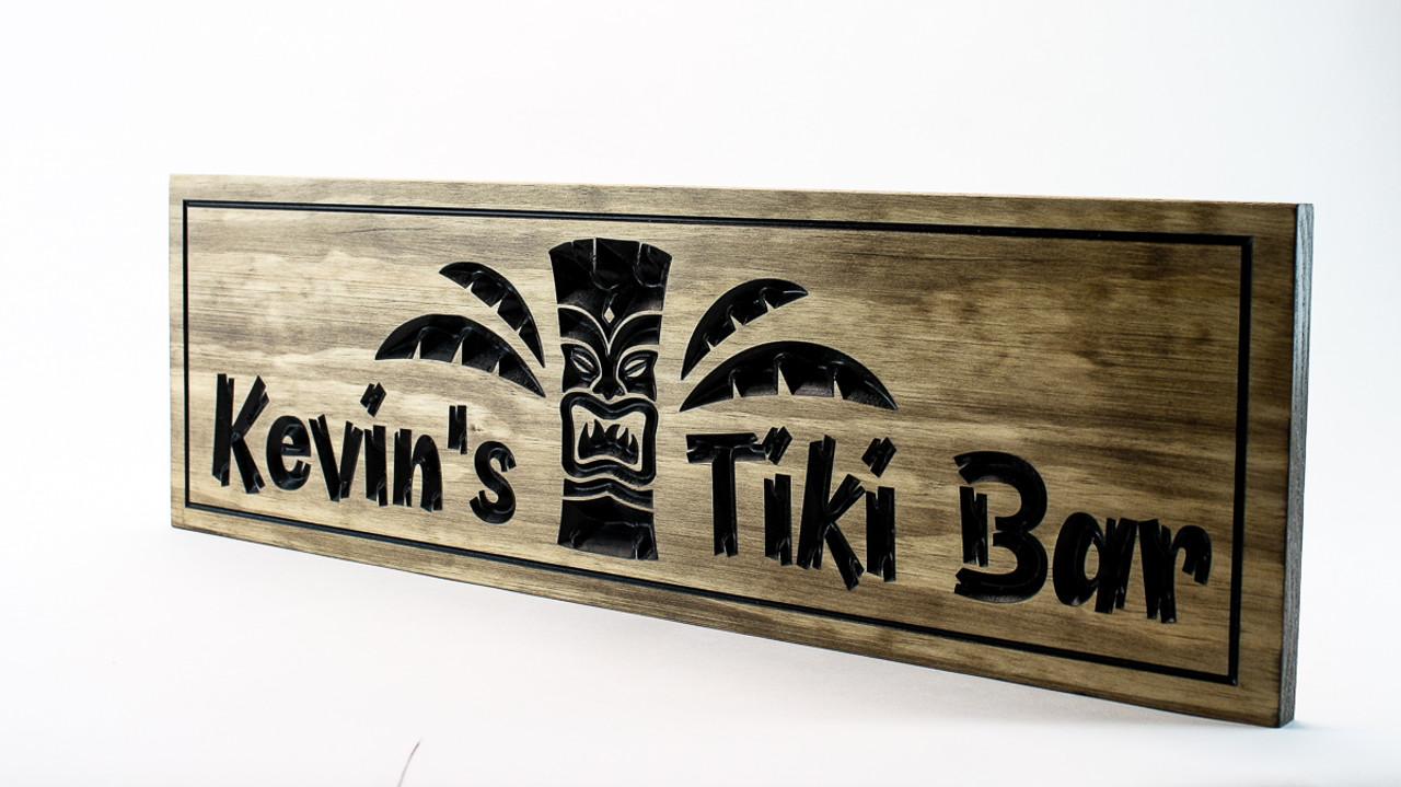 tiki bar sign-tiki hut bar sign
