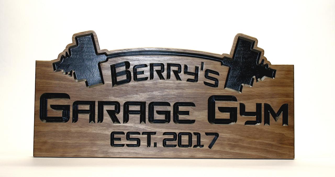 personalized custom garage gym sign