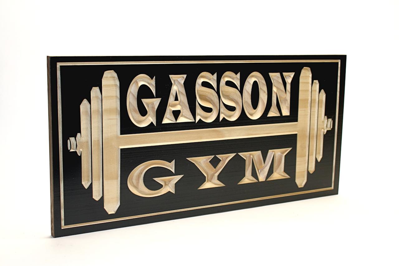 garage home gym sign