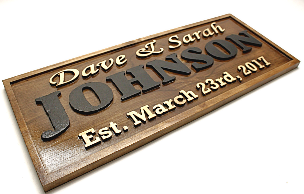 personalized family established name signs