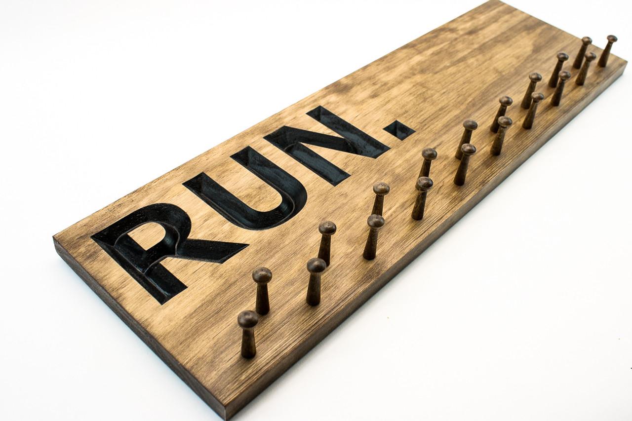 running medal holder bib display