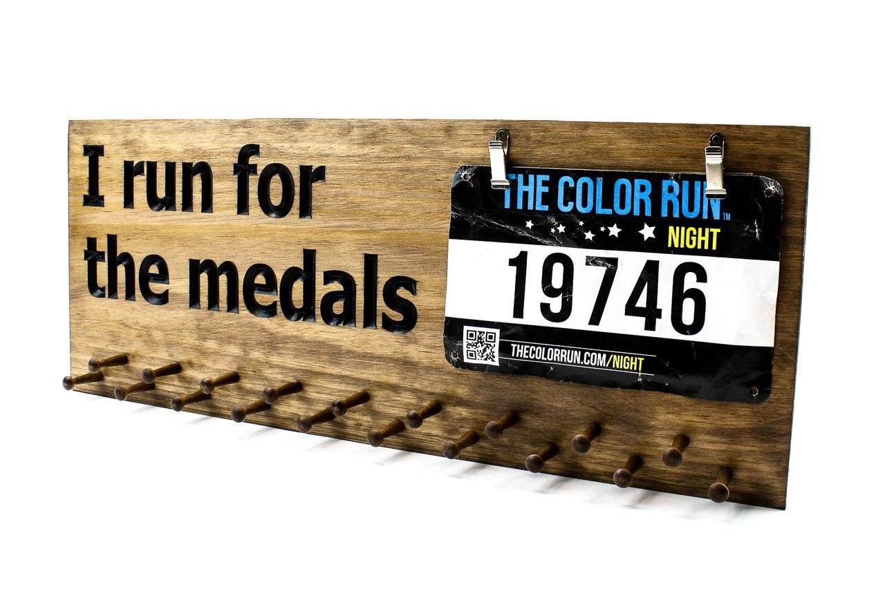 Running Medal Display Sign Race Medal Holder Medal Hanger Ideas