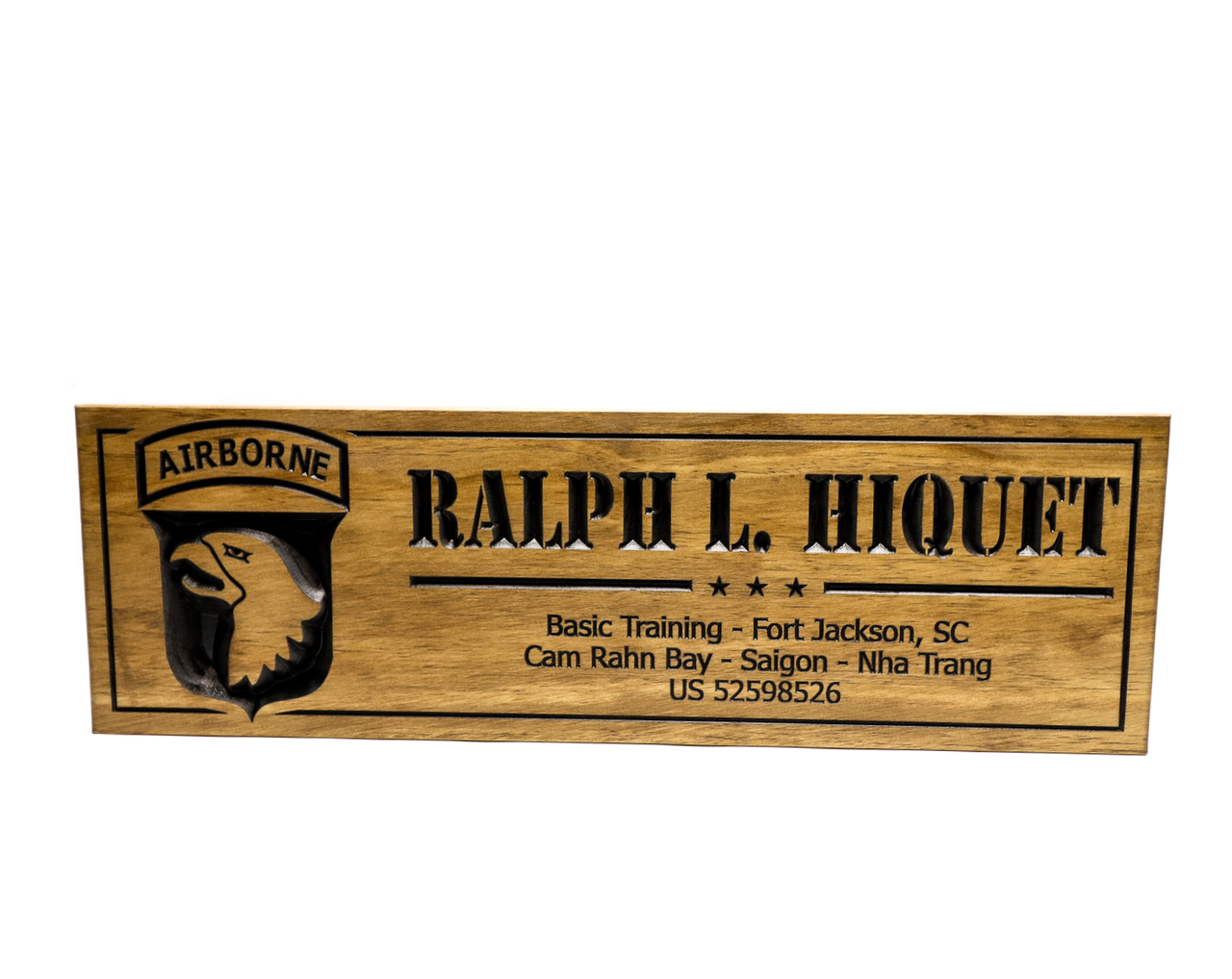 United States Army Airborne Sign-US Army-Navy Sign-Marines Sign-Custom  sign-Personalized Wood Sign-Veterans Day Gift-(CWD-660)
