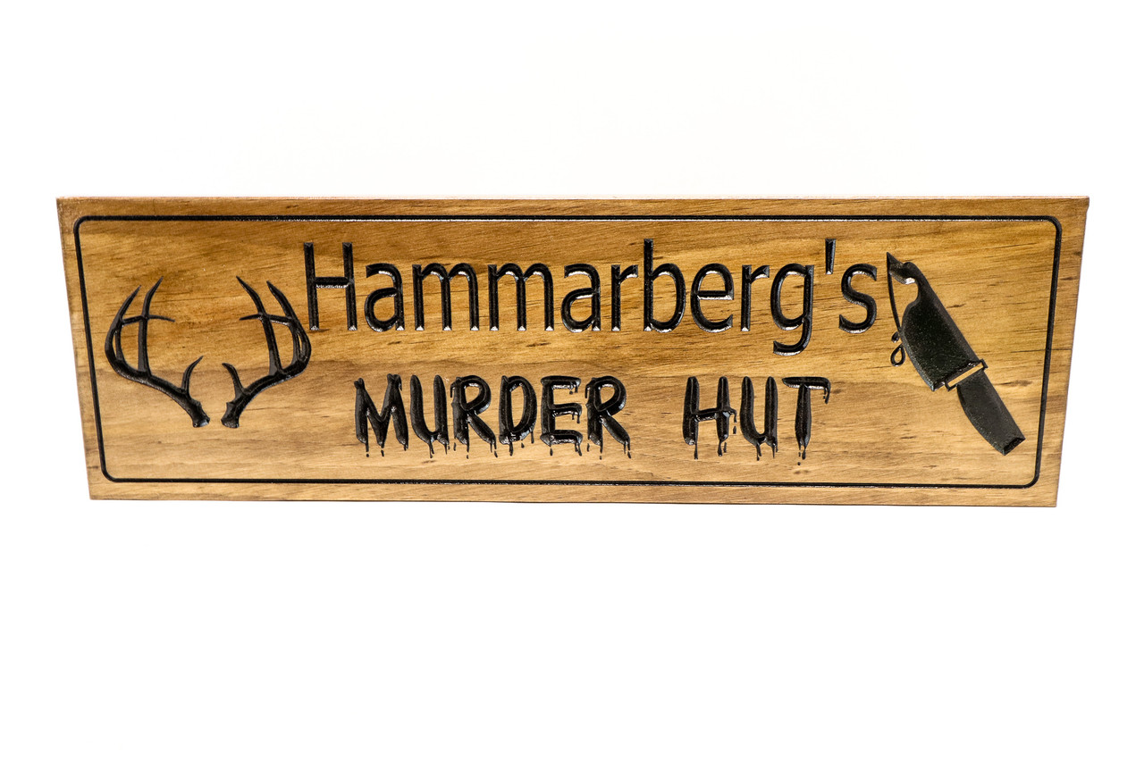 Deer shed sign- hunting sign - hunting cabin sign   (CWD-678)