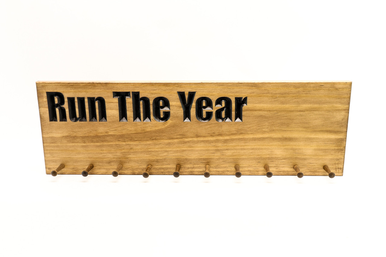 Run the year Marathon Medal display 10, 19 or 30 PEGS
