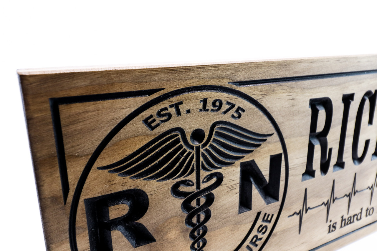 Nurse Sign, Nurse plaque for retirement gift, birthday gift for nurse - RN wooden sign