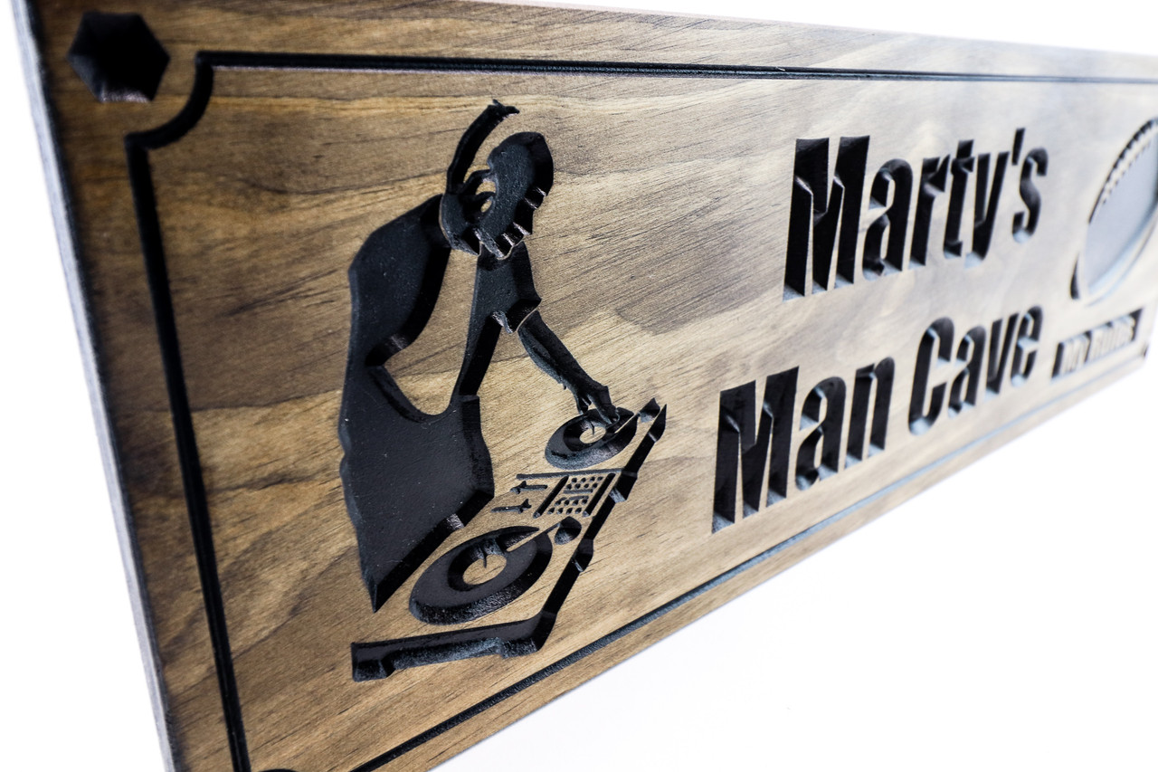 Dj sign, turntable Music room wood sign - music decor for home-piano room sign - music studio wooden sign (CWD-698)