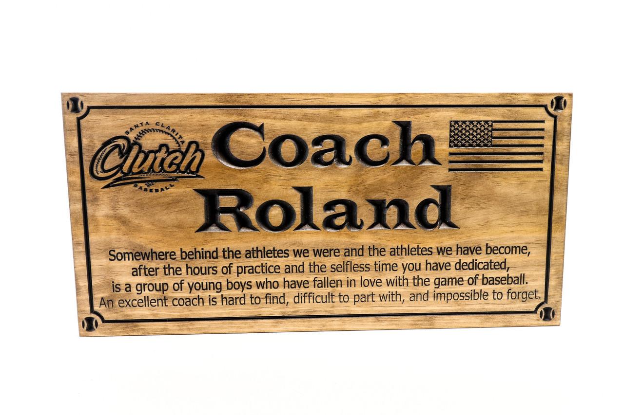 BASEBALL coach team plaque - baseball little league team awards , team plaques