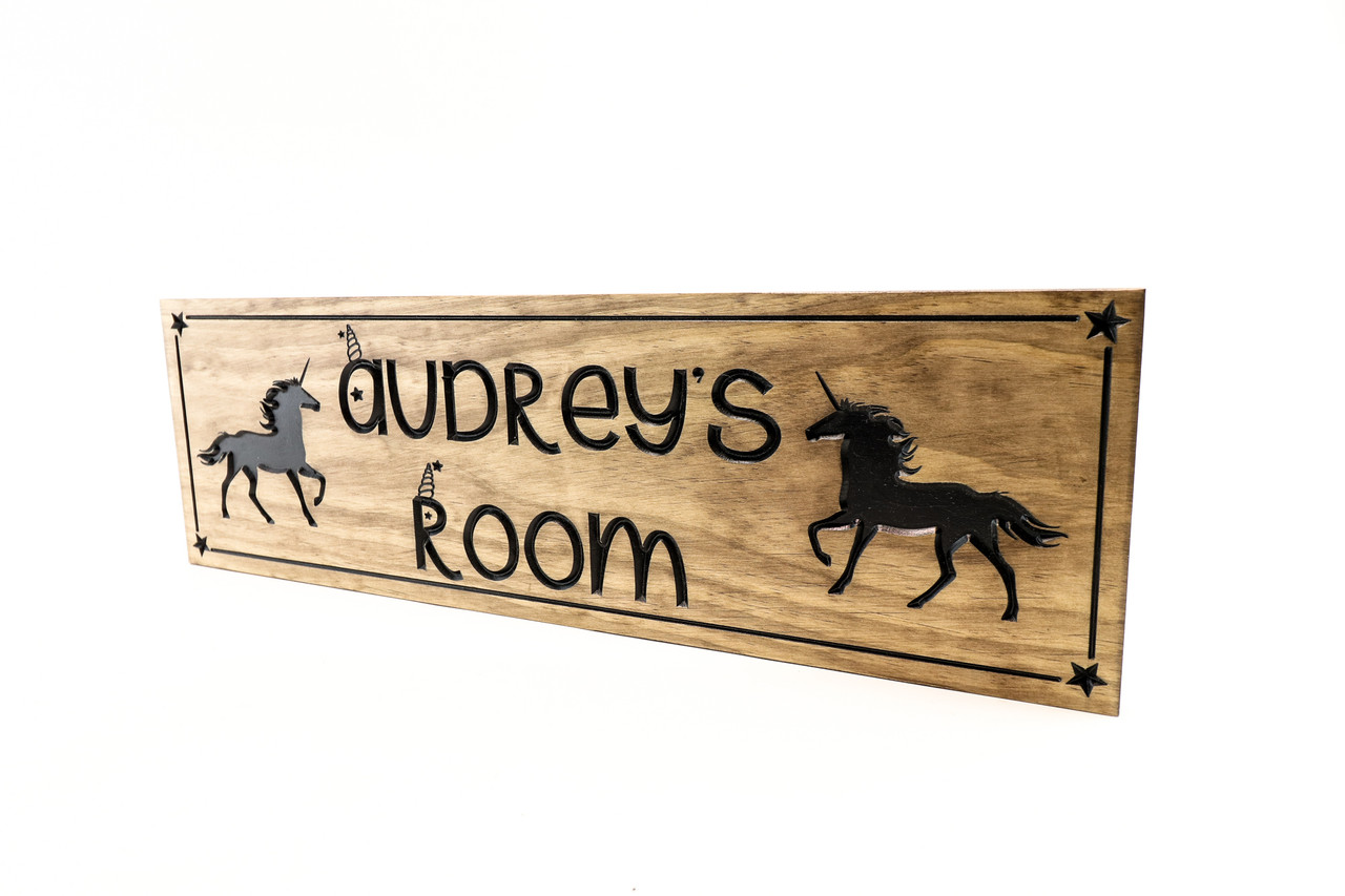 Unicorn kids room sign