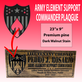 ARMY ELEMENT SUPPORT COMMANDER SIGN