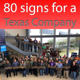 80 signs for a Texas Company
