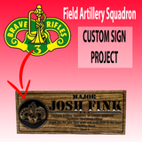 Field Artillery Squadron - Operations Officer custom wooden sign