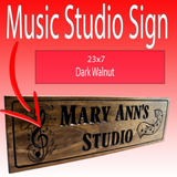 Music Studio Sign