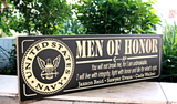 MAN OF HONOR, U.S. Navy plaque