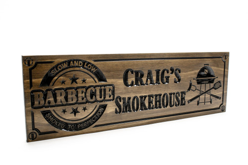 BBQ wooden sign for your outdoor grill