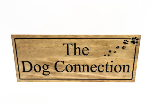 dog sign wood