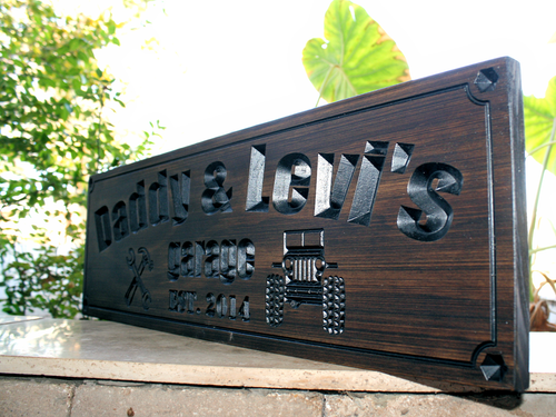 Garage Sign with tools & JEEP