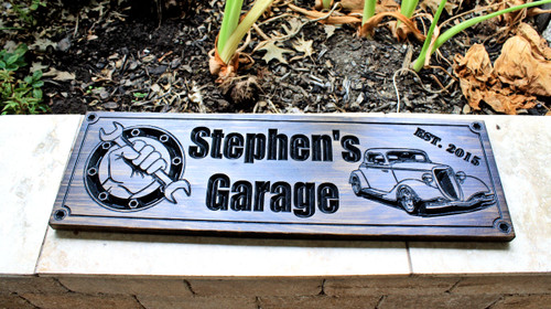 Garage Sign feat. 1934 Ford Coupe