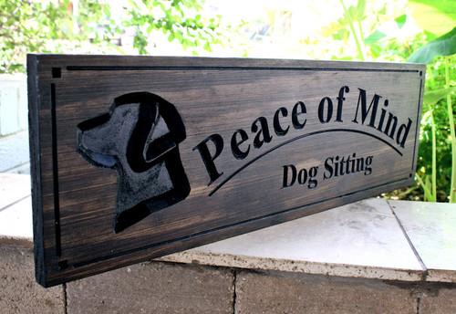 labrador dog sign