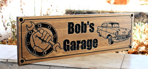 GARAGE SIGN feat. 57 Ford Bel Air