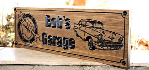 GARAGE SIGN feat. 57 Ford Bel Air (CWD-420)