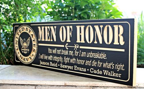 Man of Honor, U.S. Navy Plaque(CWD-451)