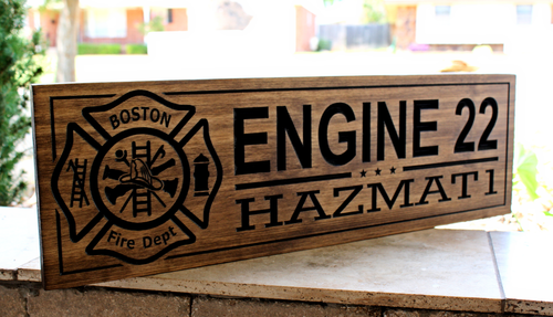 Firefighter Sign BOSTON Fire Department