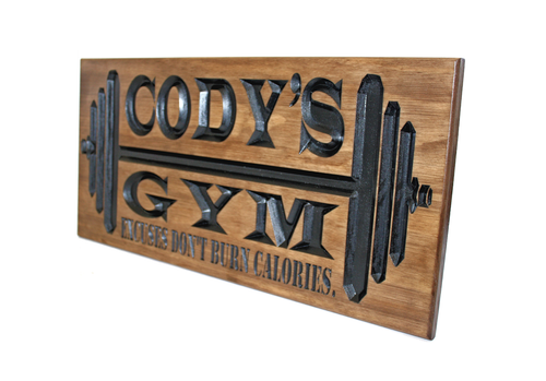 garage gym sign