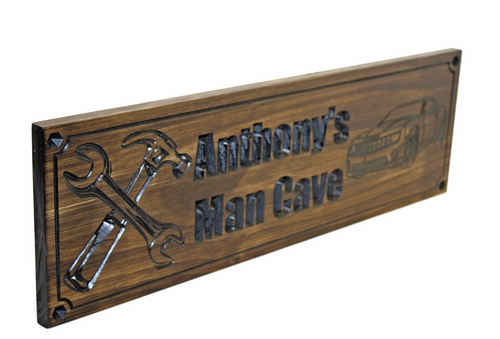 Garage Sign | Man Cave sign with wrenches and car