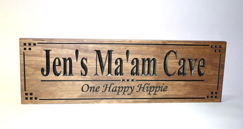 Ma'am Cave  Sign