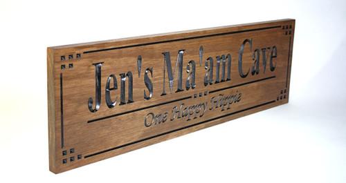 Ma'am Cave  Sign