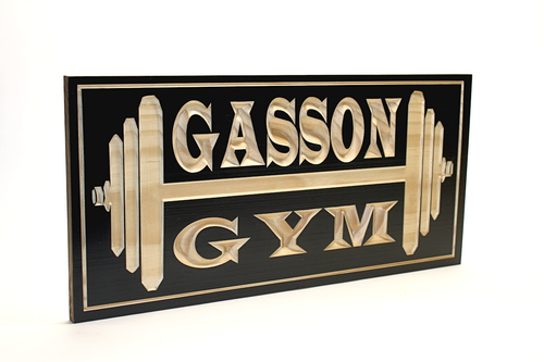 garage home gym sign