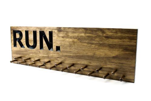 running medal display wood