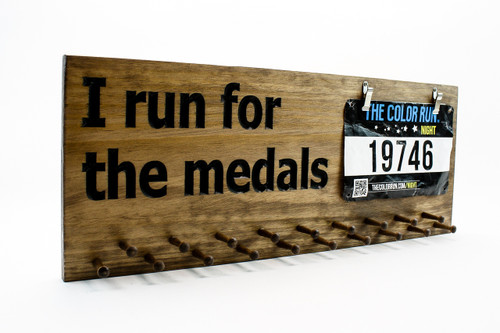 running medal display---i run for medals sign