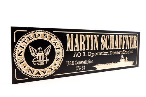 USS Constellation-military-plaque